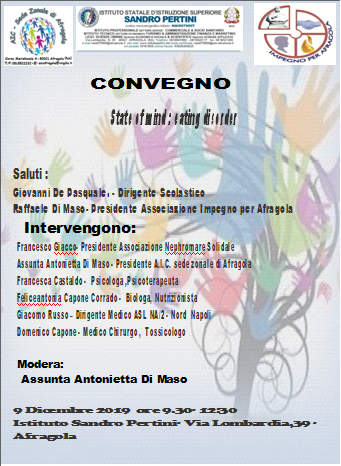 "CONVEGNO "" STATE OF MIND: EATING DISORDER"